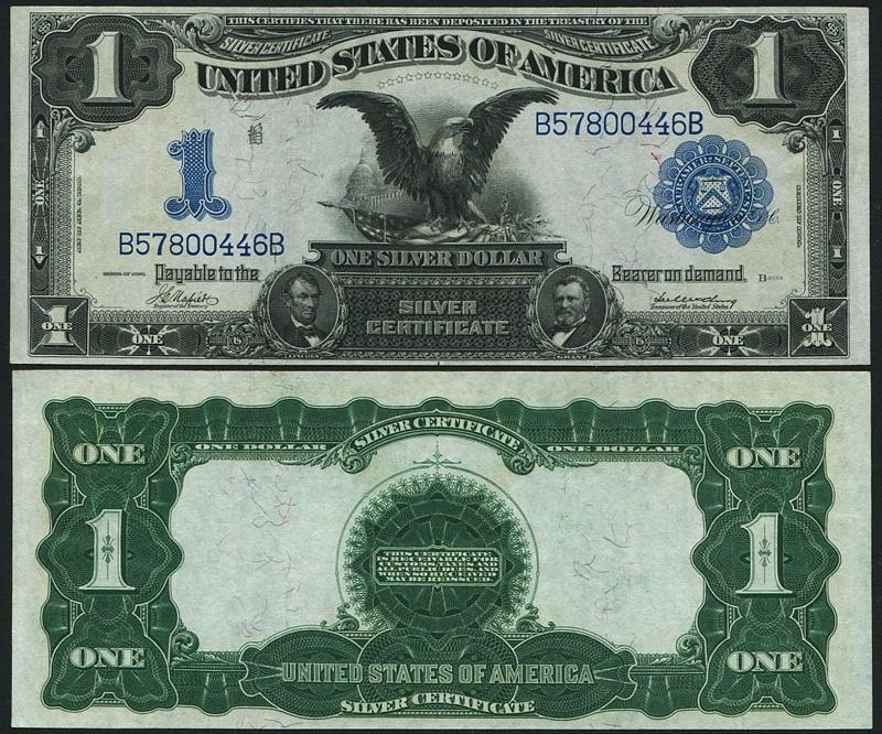 アメリカ 1899年 ラージサイズ古い 1ドル 極美品 収集ワールド