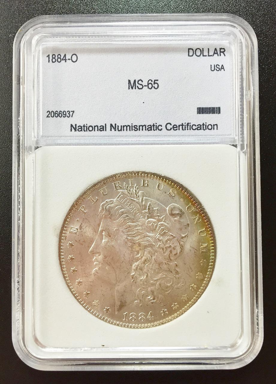 アメリカ 1884年O モルガン1ドル NNC社 MS-65 | 収集ワールド
